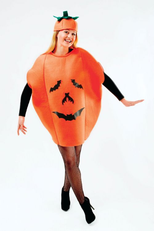 Adults Pumpkin Costume Costume Halloween Trick Or Treat Fancy Dress Outfit